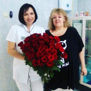 Ксения Мурашова с пациенткой клиники Стайл-С